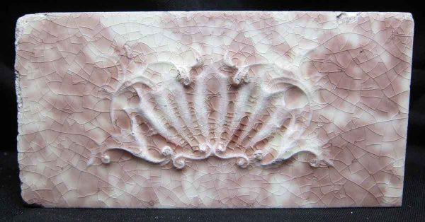 Cream White & Pink Shell Tile