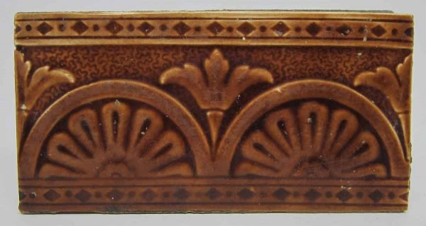 Decorative Brown Art Deco Tile