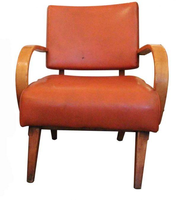 Mid Century Orange Rocking Chair