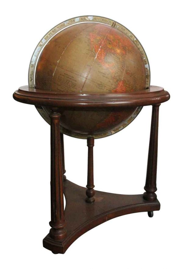 Standing Globe with a Wood Stand