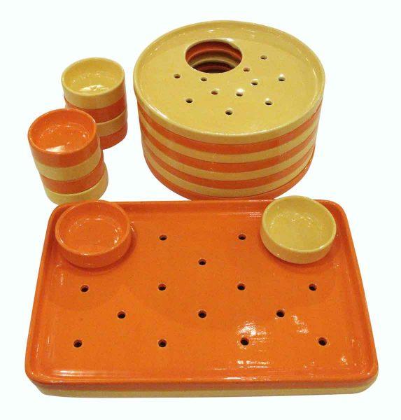 French Ceramic Vintage Serving Set