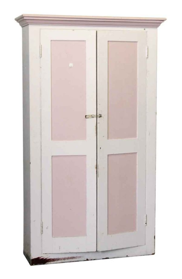Pink & White Wooden Cabinet