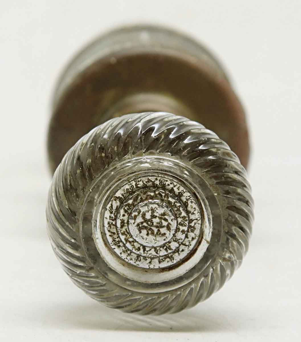 Glass Knob Set With Decorative Center By Schlage Hardware