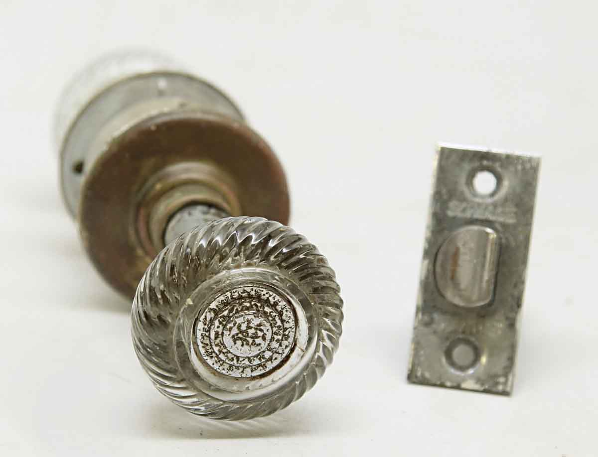 Glass Knob Set With Decorative Center By Schlage Hardware