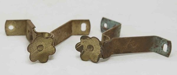 Set of Floral Curtain Brackets