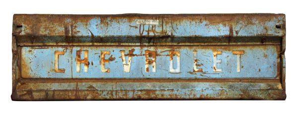 Vintage Chevy Pickup Truck Tailgate Door