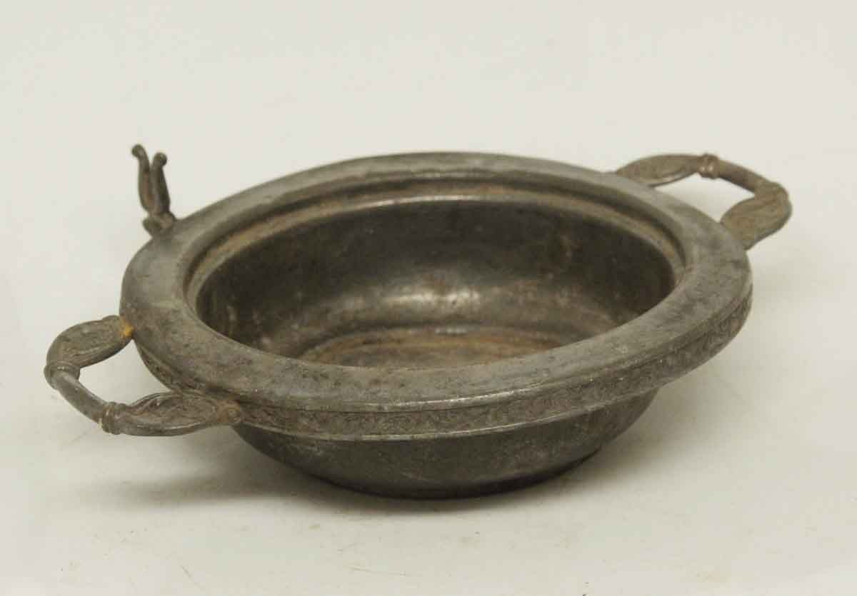 silver ornate bowl with handles olde good things