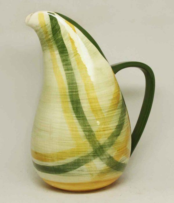 Green & Yellow Ceramic Pitcher