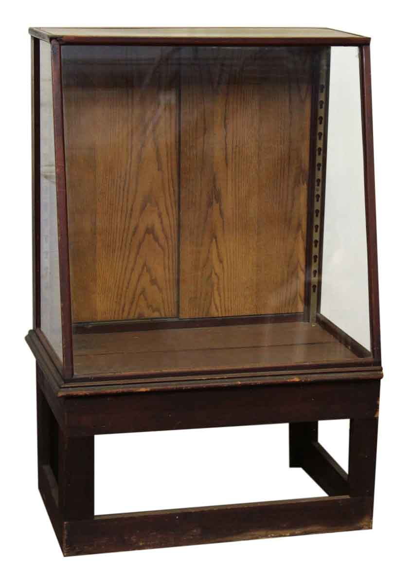Small Wooden Furniture ~ Small wooden elevated showcase olde good things