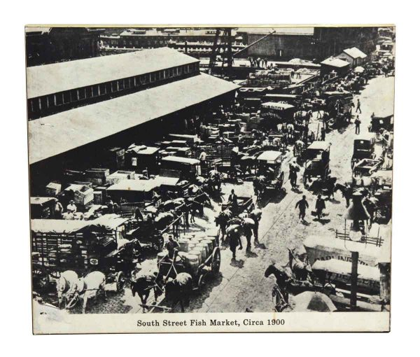 1900s South Street Fish Market Print