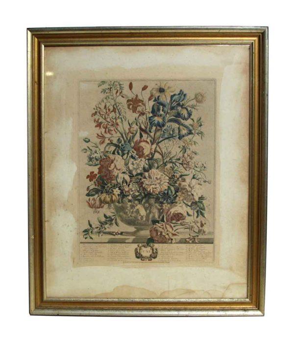 Vintage Floral June Print