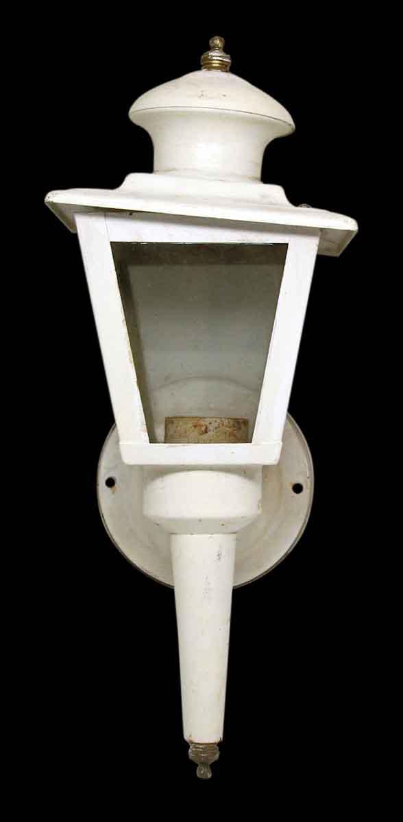 White Outdoor Lantern Sconce