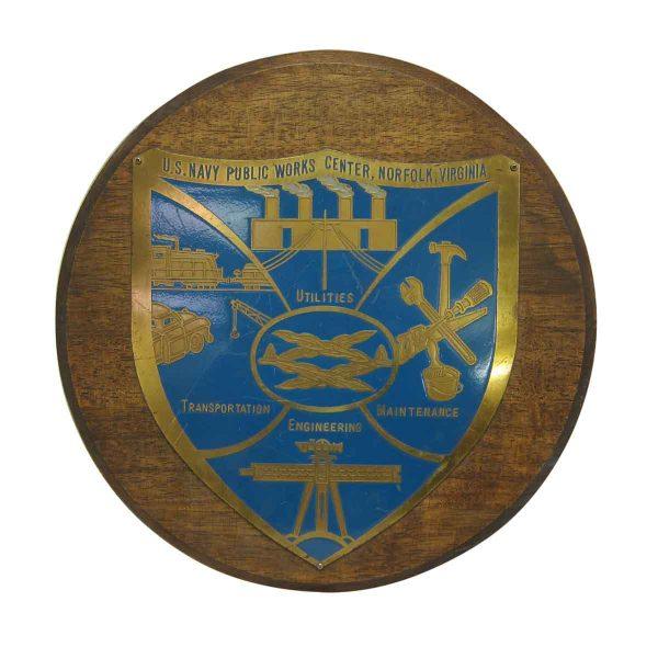Us Navy Public Works Plaque