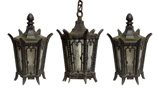 Set of Lamp Post Tops & Entry Lantern