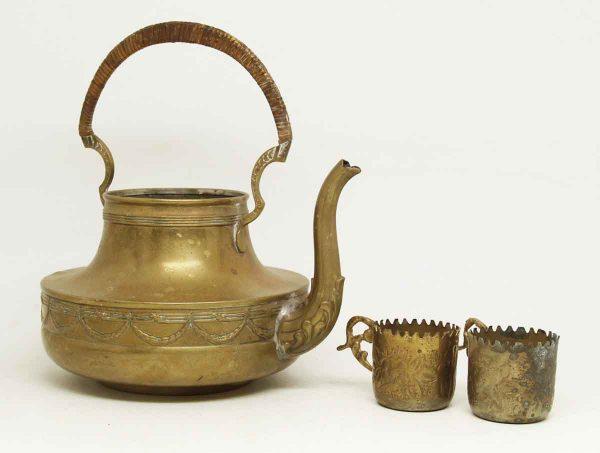 Vintage Tea Pot with Mini Cups