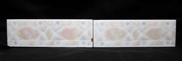 Pair of Two Pastel Raised Tiles