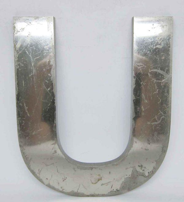 Aluminum U Letter Sign