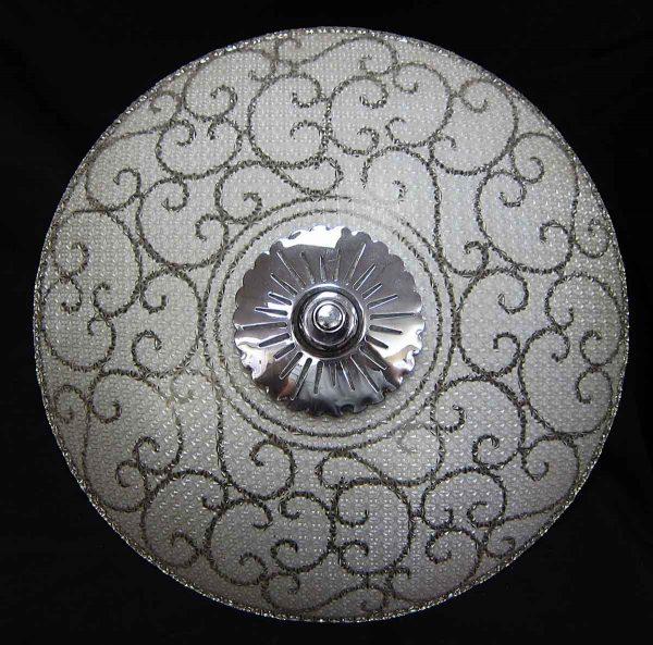 Decorative Textured Semi Flush Mount Glass Fixture