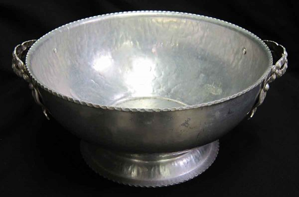 Hand Wrought Aluminum Floral Bowl