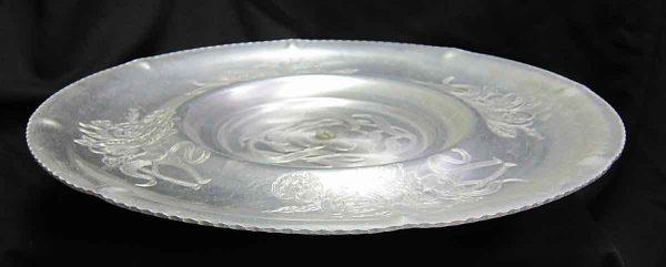 Hand Wrought Aluminum Floral Platter