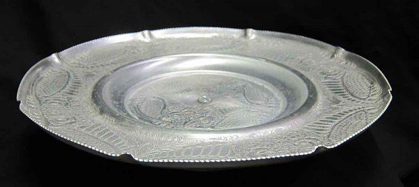 Floral Aluminum Platter