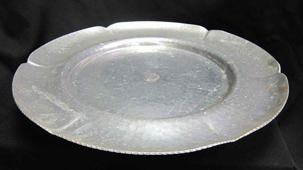 Hammered Hand Wrought Aluminum Platter