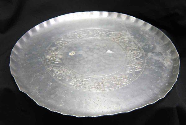 1930s Hand Wrought Aluminum Serving Platter