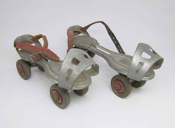 Pair of Vintage Metal Roller Skates