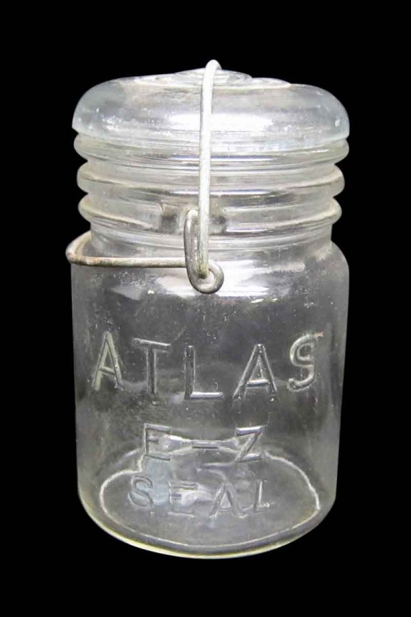 Set of Atlas E-Z Seal Glass Jars