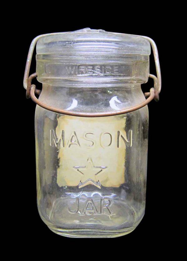 Single Blue Mint Glass Jar