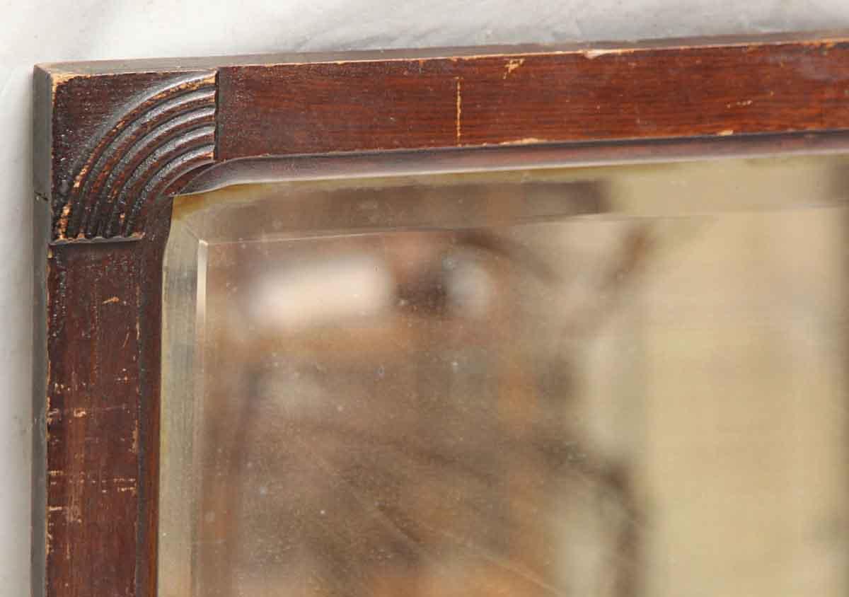 Art Deco Wood Framed Beveled Mirror Olde Good Things