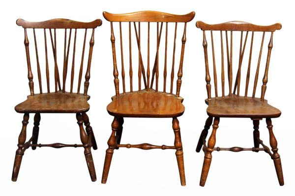 Set of Three Wooden Chairs