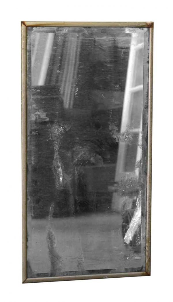 Nickel Framed Distressed Mirror