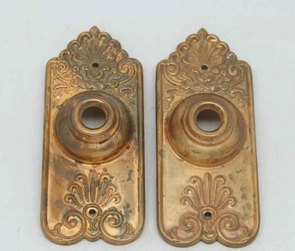 Ornate Copper Washed Neoclassical Doorbell Plates