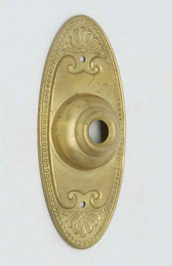 Pressed Metal Neoclassical Doorbell Plate