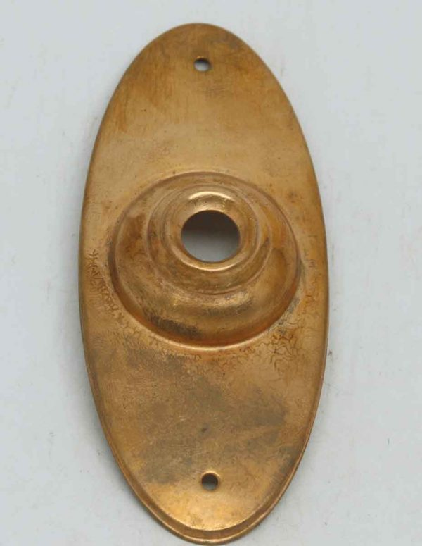 Oval Copper Washed Doorbell Plate