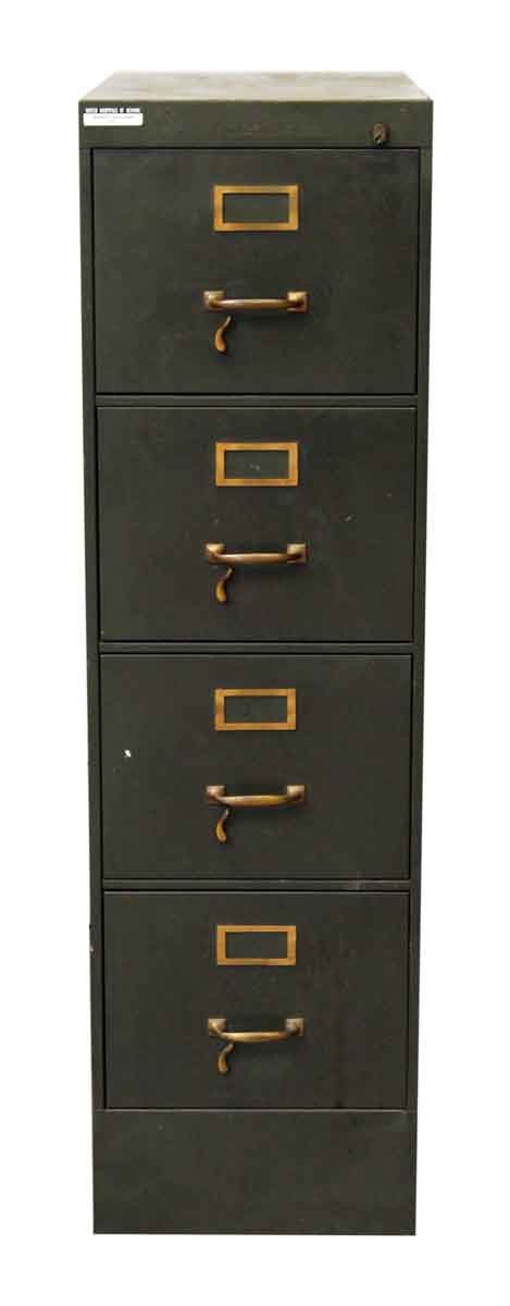 Four Drawer Metal Green Filing Cabinet