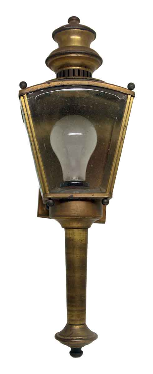 Brass Single Sconce with Beveled Glass
