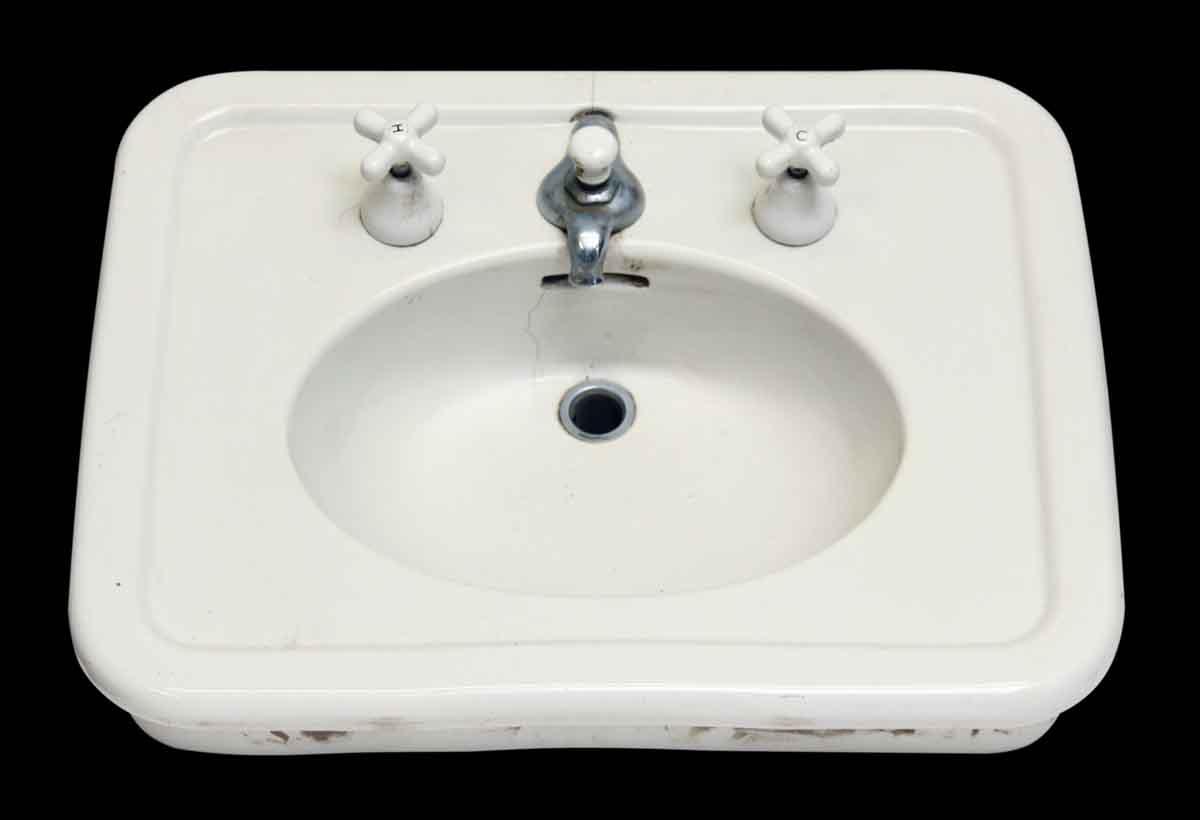 White Salvaged Pedestal Sink Olde Good Things