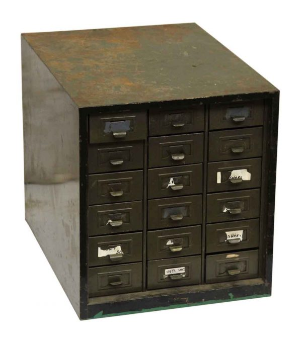 Green Metal Card Catalog