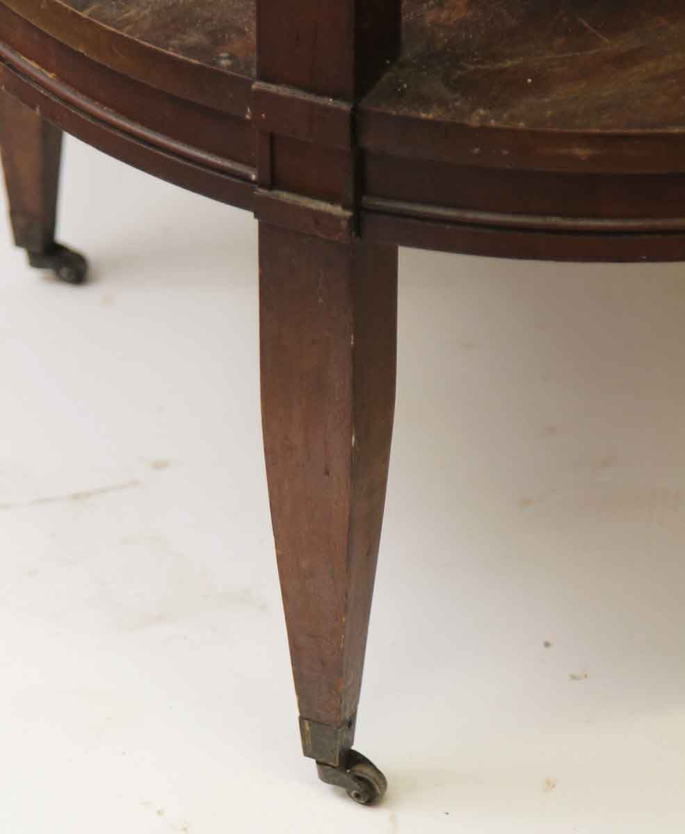 Antique Coffee Table On Wheels: Round Wood Coffee Table On Wheels