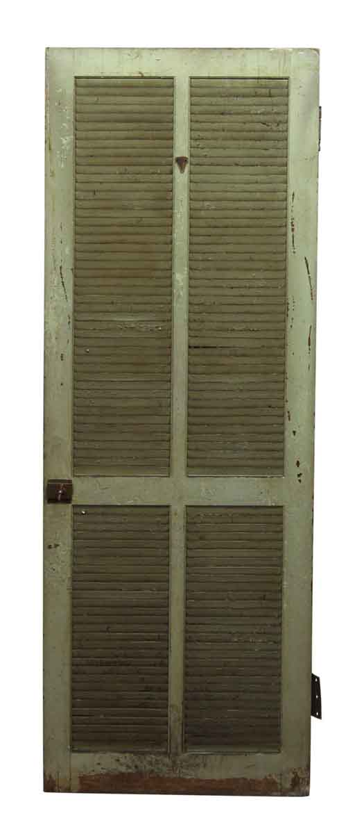 Wooden Green Louver Door