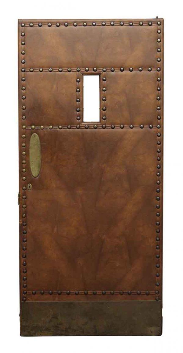 Leather Like Studded Swinging Door