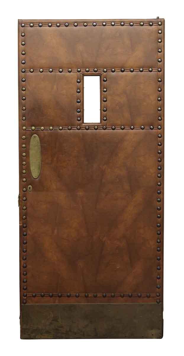 Leather Like Studded Swinging Door Olde Good Things