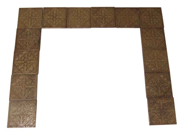 Geometrical Brown & Tan Italian Tile Surround