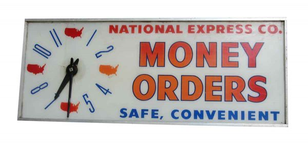 National Express Co. Money Order Clock Light