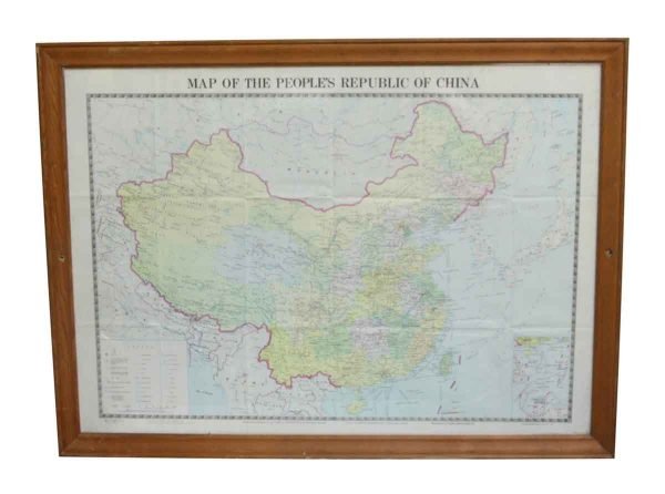 Wooden Framed People's Republic of China Map