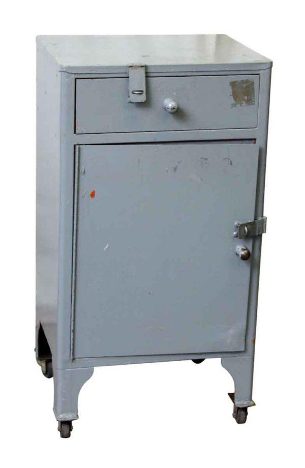 Small Steel Locked Cabinet on Wheels