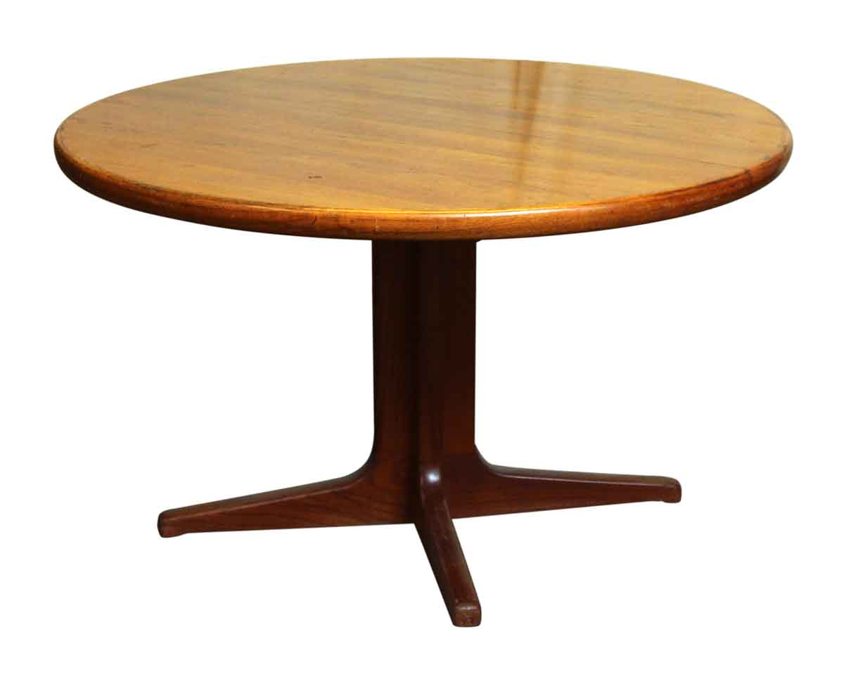 Mid Century Dining Table On Pedestal Base Olde Good Things