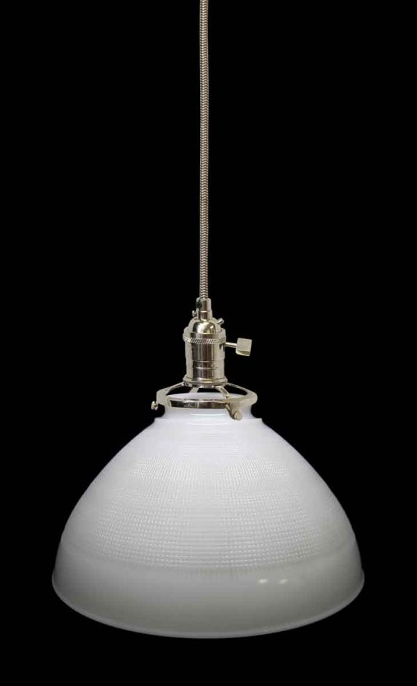 Milk Glass Cone Shade Pendant